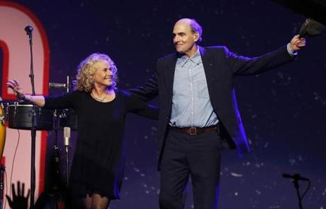 "One of the concert's highlights featured Carole King  and James Taylor, who performed ""You've Got a Friend."""